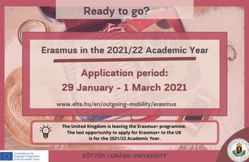 Ready to go? - Apply for Erasmus+ scholarship