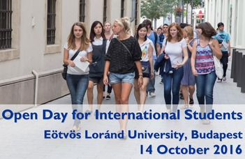 We are warmly inviting you to the Open Day at Eötvös Loránd University (ELTE) on 14 October 2016