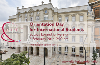 Orientation Day for International Students 2013/2014 Spring