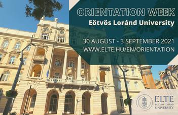 Orientation week for international students 2021/2022 Autumn