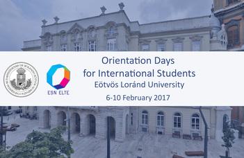 Orientation Days for International Students 2016/2017 Spring