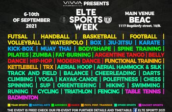 ELTE Sport week 2021