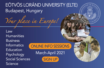 Info session: Your place in Europe - Study at Eötvös Loránd University (ELTE) in Budapest