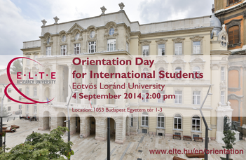 Orientation Day for International Students 2014/2015 Autumn