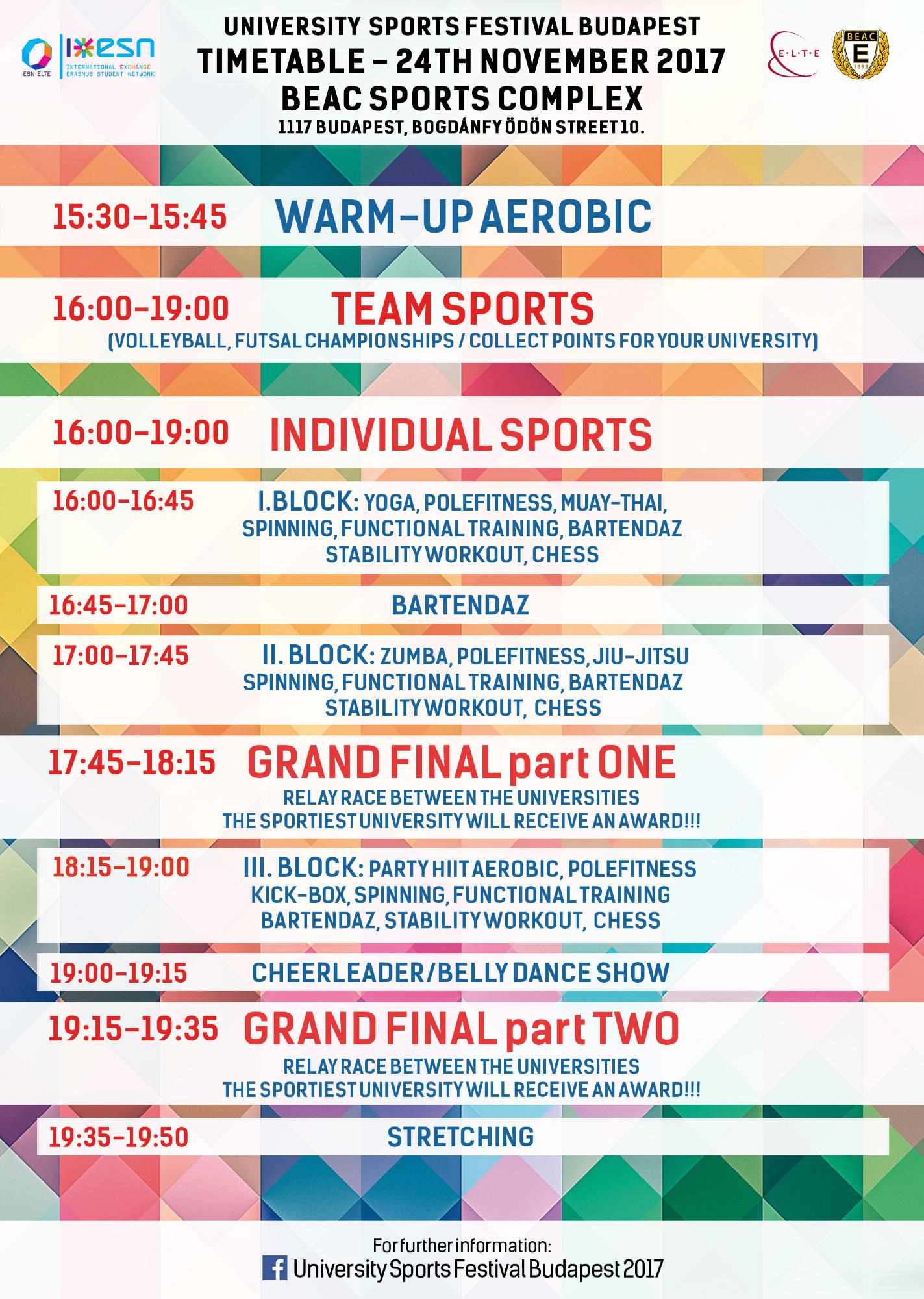 university sports festival budapest