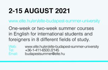 ELTE Budapest Summer University 2021