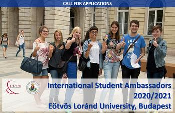 Eötvös Loránd University is looking for International Student Ambassadors (2020/21)
