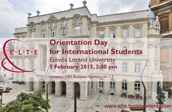 Orientation Day for International Students 2014/2015 Spring