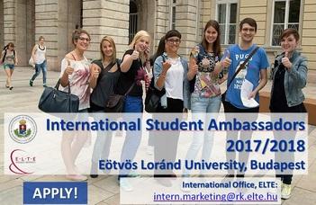 ELTE International Student Ambassadors 2017/2018