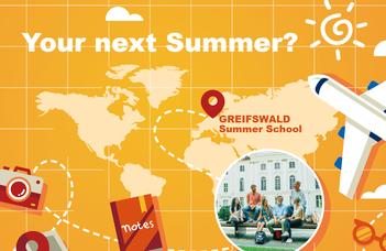Invitation to the annual summer school Greifswald Summer