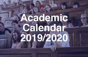 Academic calendar 2019/2020