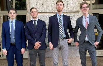 ELTE's team is in first place in the world in competition law