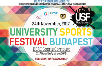 Sport connects people - 300 foreign students were doing sports at the 2nd USF Budapest!