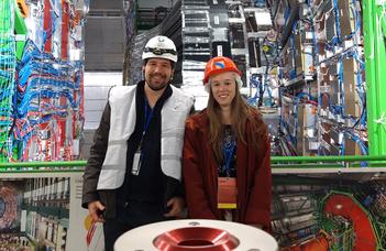 Fizikus hallgatók a CERN részecskegyorsítójában