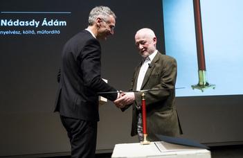 Moholy-Nagy-díjat kapott Nádasdy Ádám