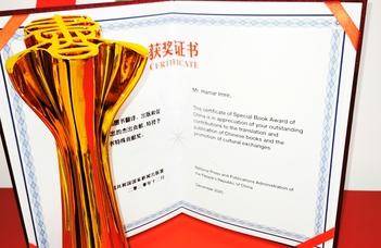 Hamar Imre elismerése Kínában