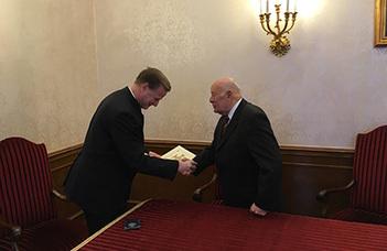 Máthé Gábor kitüntetése
