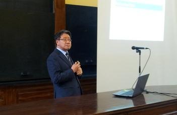 Yim Geun-hyeong nagykövet tartott előadást a BTK-n