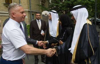Szaúdi küldöttség látogatása a BTK-n