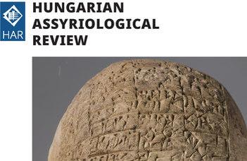 Megjelent a Hungarian Assyriological Review első száma