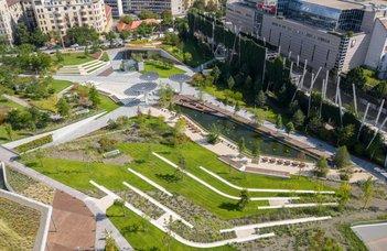 A park mint stresszcsökkentő környezet