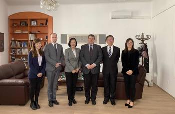 A Tajvani Nemzeti Egyetem delegációja az ELTE-n
