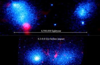 Ütköző galaxishalmazokat kaptak lencsevégre