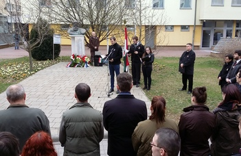 Március 15-re emlékeztek a szombathelyi campuson