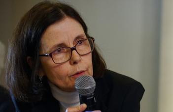 Pascale Andréani, a Francia Köztársaság magyarországi nagykövete tart előadást.