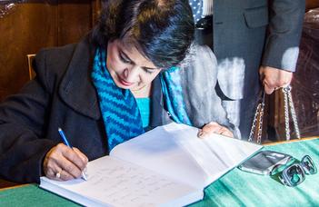 A mauritiusi elnök a Füvészkertben