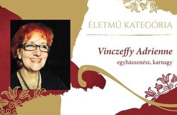 Életműdíjat kapott Vinczeffy Adrienne