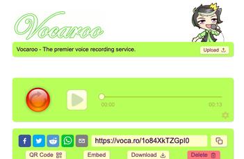 Audio visszajelzés a hallgatók munkájára a Vocaroo alkalmazással