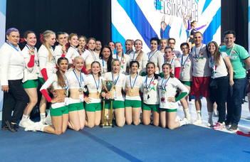 Európa-bajnokok az ELTE-BEAC cheerleaderei