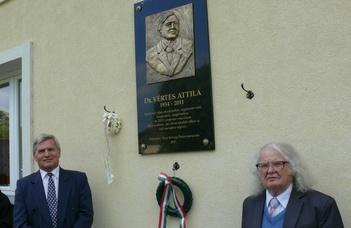 Dombormű Vértes Attila emlékére