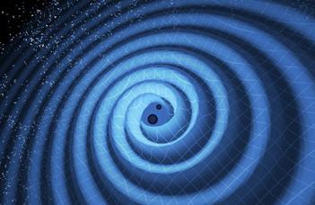 """Raffai Péter asztrofizikus előadása """"Az atomoktól a csillagokig"""" sorozatban."""
