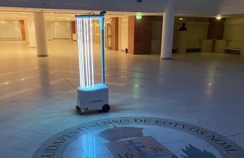 Új generációs  fertőtlenítő robot készült