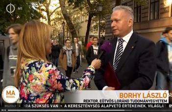 Borhy László rektor az ELTEfesztről (M1, Ma délelőtt)