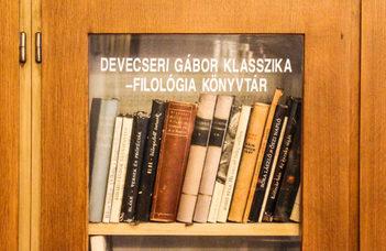 Devecseri Gábor hagyatéka a szombathelyi campuson