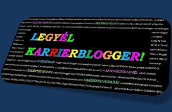 Karrierbloggereket keresnek