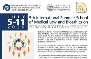 """""""Emberi Jogok az Egészségügyben"""" nyári egyetem Görögországban"""