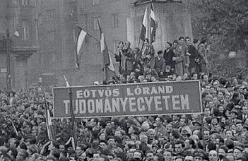 1956-os megemlékezések az ELTE karain