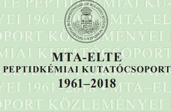 Megjelent az MTA–ELTE Peptidkémiai Kutatócsoport publikációs almanachja