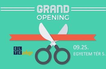 Meglepetésekkel és árengedményekkel nyit a Questura mellett az új  ELTEshop.