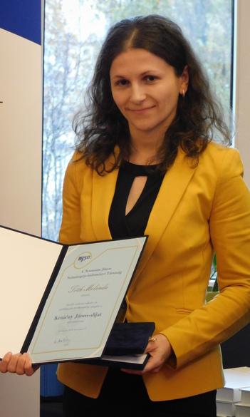 Kemény János-díjat kapott Tóth Melinda