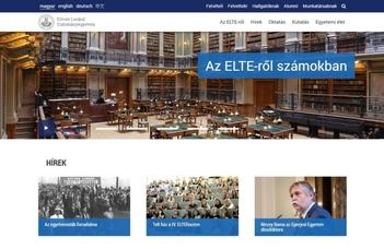 Díjazták az ELTE új honlapját