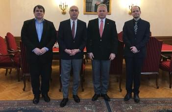 Grúz delegáció az ELTE-n