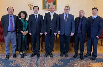 A Pekingi Nyelvi- és Kulturális Egyetem küldöttsége az ELTE-n